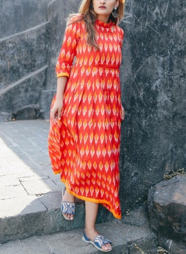 Ikat Kurti Dress