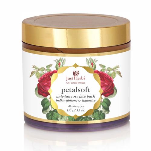 Just Herbs Petal Soft Anti Tan Face Pack