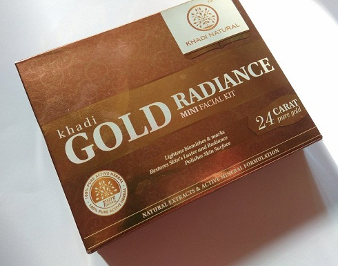 Khadi Natural Gold Radiance Facial Kit