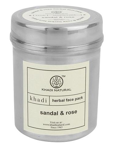 Khadi Sandal and Rose Face Pack