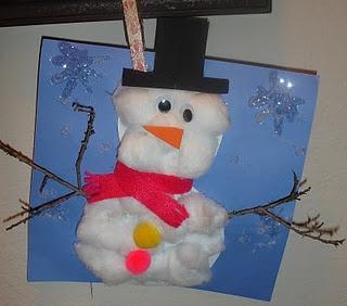 Kindergarten Snowman Crafts