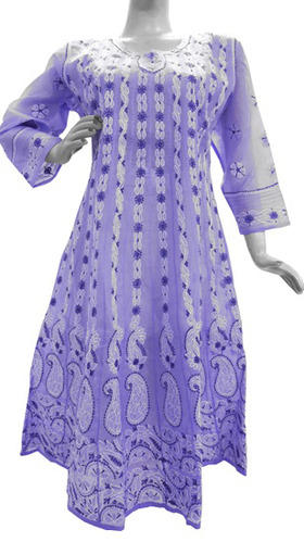 Lavender chikankari kurti