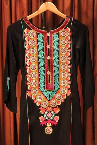 Long Pakistani Embroidered Kurti