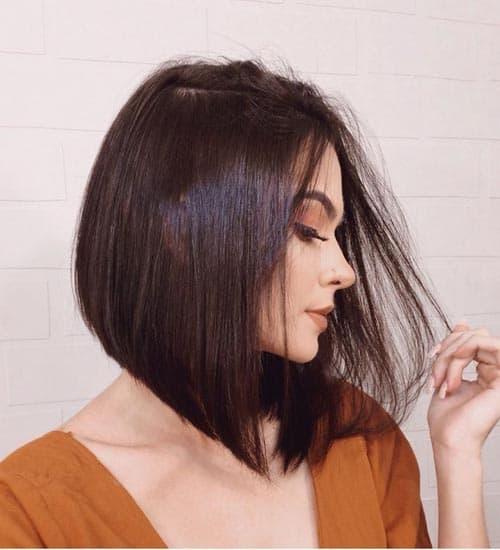 Blunt Cut Medium Bob Hairstyle