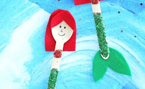 Mermaid Wooden Spoon Craft
