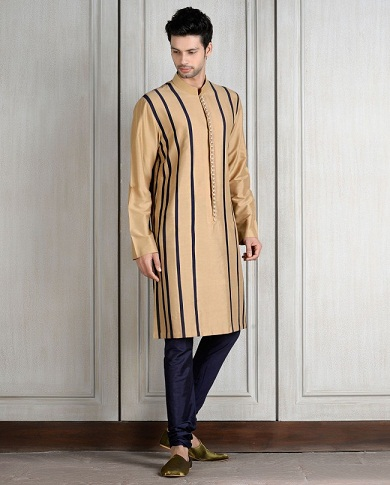 Modern Design Golden Kurta for Men