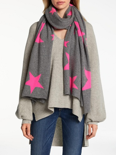 Neon Star Cashmere Scarf for Ladies