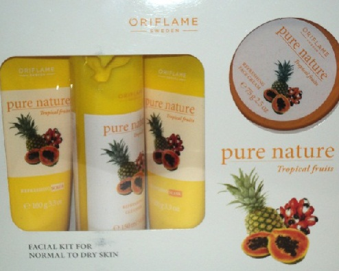 Oriflame Sweden Pure Nature Tropical Fruits Facial Kit
