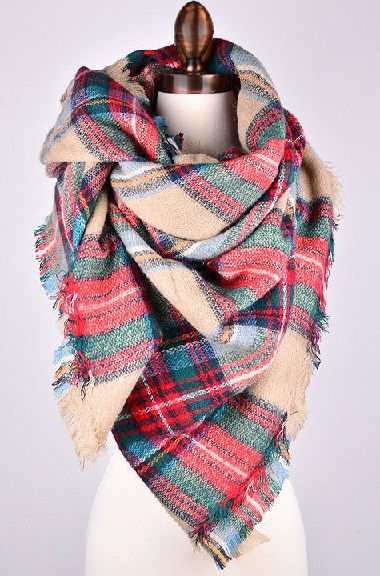 Oversize Plaid Scarf