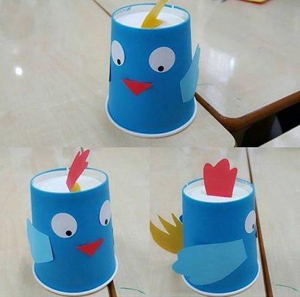 Paper Cup Snow Man