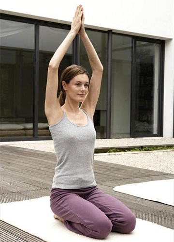 Parvatasana Posture for Dark Circles
