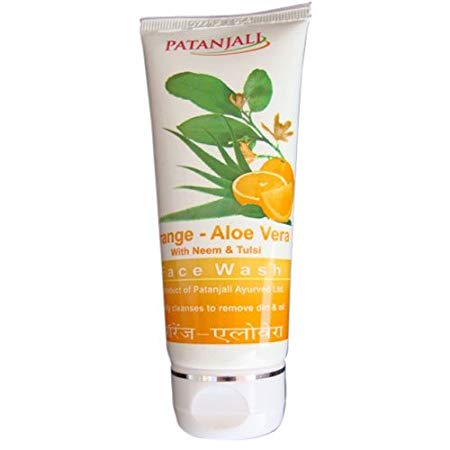 Patanjali Orange and Aloe-Vera face wash