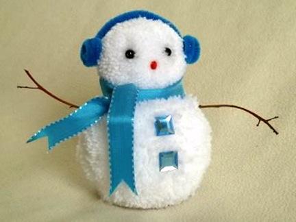 Pom Pom Snowman Crafts