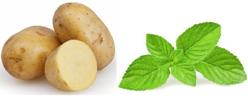 Potato Mint Leaves Eye Mask