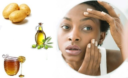 Potato and Honey Mask for Dark Circles