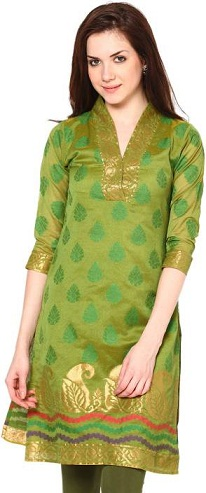 Printed and Embroidered Casual Short Kurti
