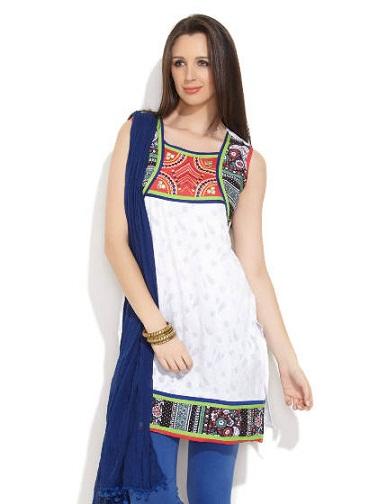 Punjabi Jacquard Kurti