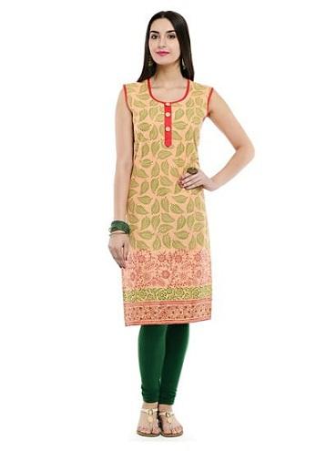 Rajasthani Leaf Motif Kurti