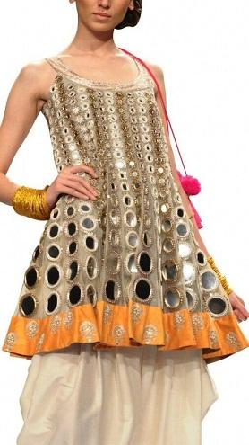 Rajasthani Mirror Work Kurti