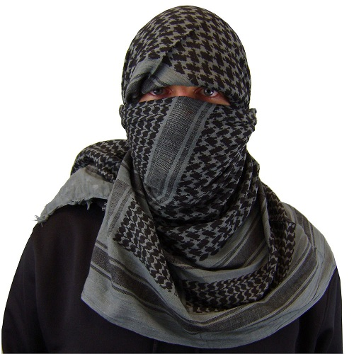 Shemagh Black Scarf With Colour Combination