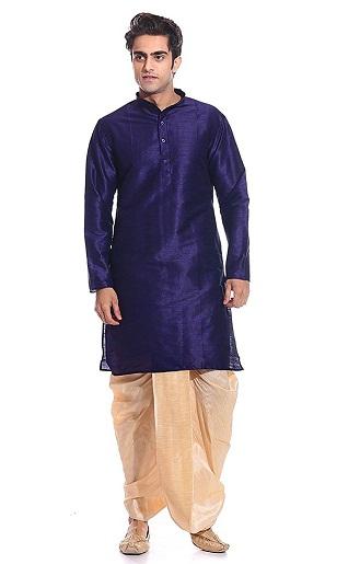 Silk Blend Dhoti Kurta