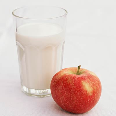 Smashed Apple with Milk