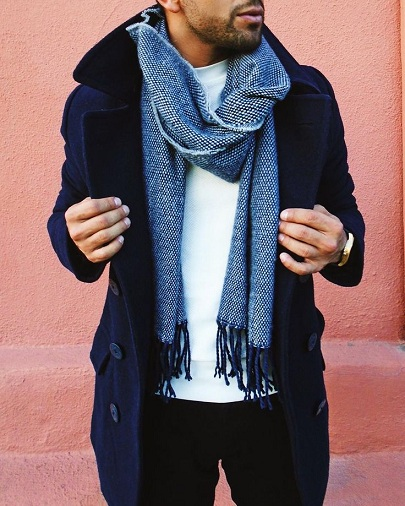 Stylish Cashmere Mix Scarf for Men