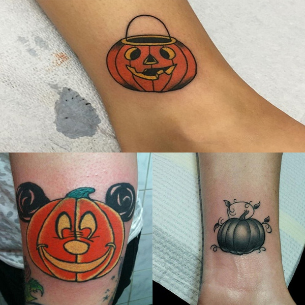 Stylish & Cute Pumpkin Tattoo Designs and Ideas