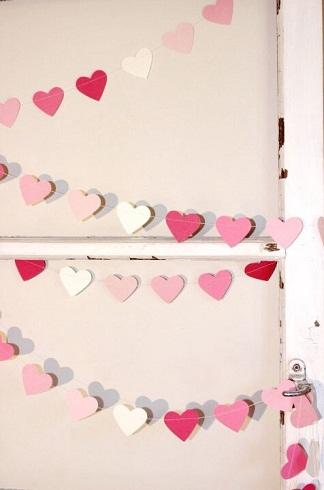 Sweet Heart Garland Valentine Craft