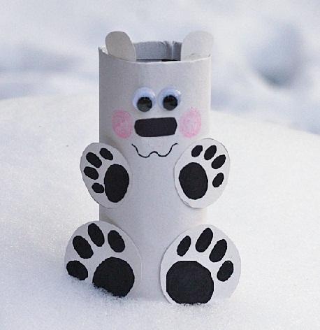 Toilet Roll Polar Bear