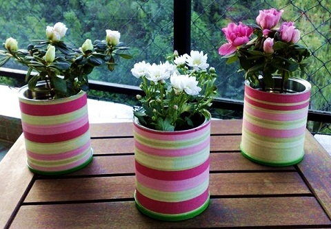 Tin Can Flower Vase