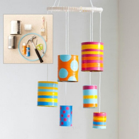 Tin Can Wall Hanging