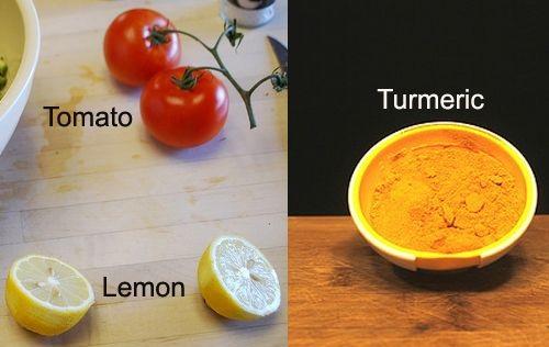 Tomato-Turmeric Pack lemon Juice Gram Flour