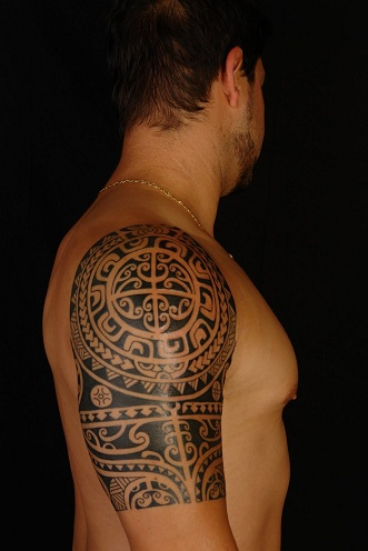 mandala arm tattoo for guys