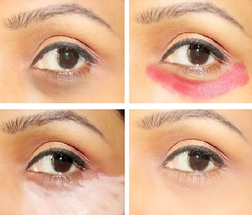 Use Eye Shadow for The Under Eyes