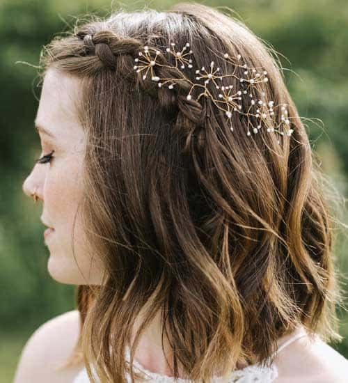 12 Simple And Latest Wedding Hairstyles For Medium Hair Styles At Life