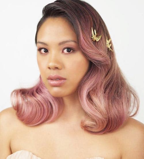 Simple and Bold Wedding Hairstyle