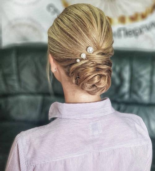 Twisted Wedding Bun