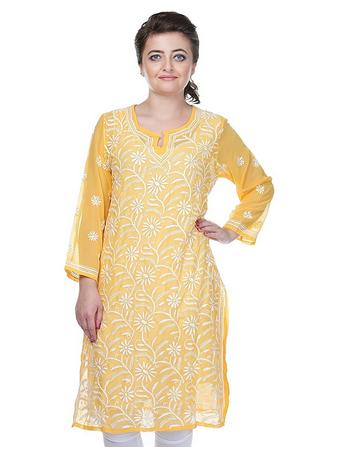 Yellow Anarkali