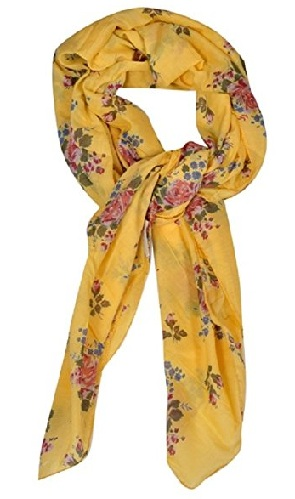 Yellow Indian Print Scarf