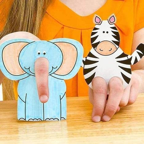 Zebra Finger Puppet Craft