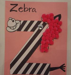 Zebra Marble Painting