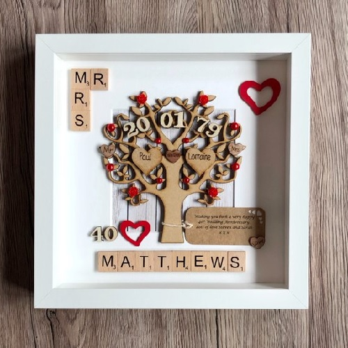 40th wedding anniversary frame for couples