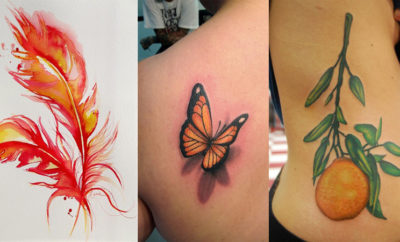 orange tattoo designs