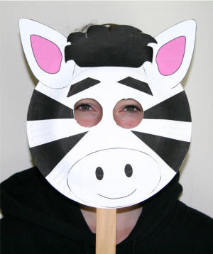 Hey Halloween Is Approaching So Why Not Be A Zebra, Do One Thing Take A  Paper Sheet Color It With Some White And Black Stripes, Then Make Eyes In  Them, ...
