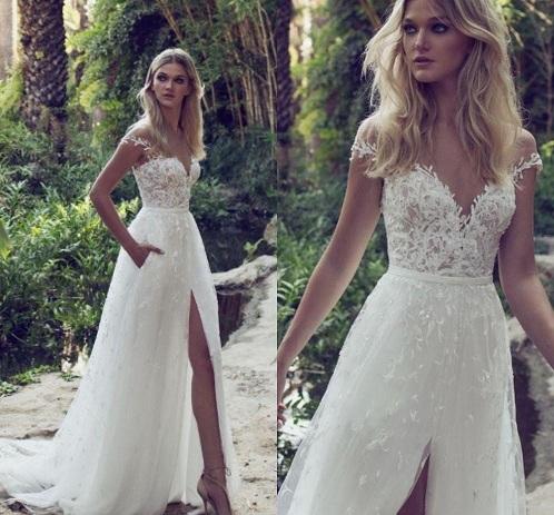 A-line Beach Wedding Dress