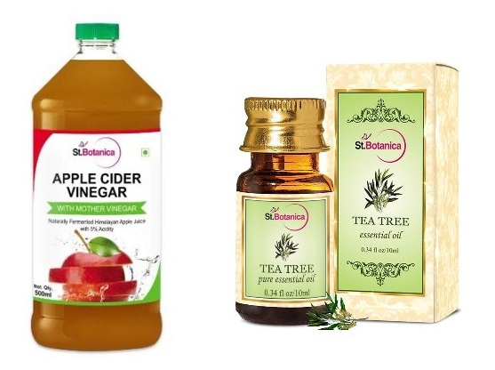 Apple Cider Vinegar and Tea Tree Oil Massage