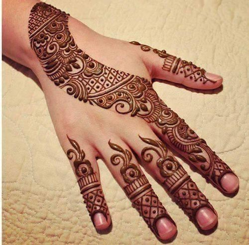 9 new and gorgeous bail mehndi designs with pictures styles at life another cool and easy mehndi bail design hands can be done are the arabic styles these designs are very simple yet look delicate and beautiful thecheapjerseys Image collections