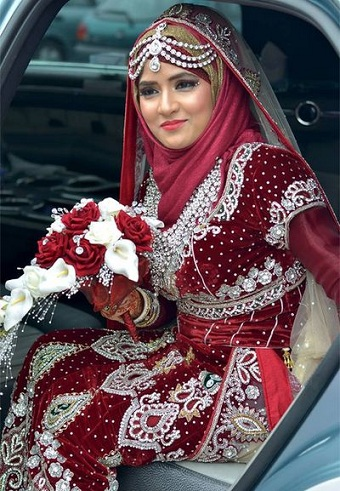 Asian Style Wedding Hijab
