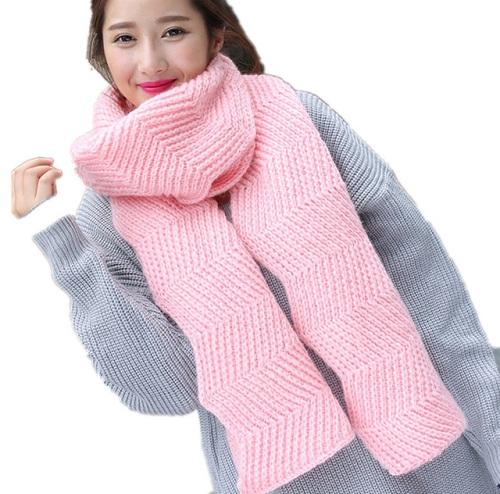 Asymmetric Twill Woollen Scarf